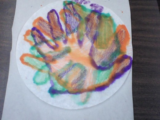 3rd grade hand, secondary colors