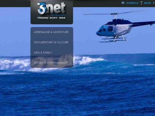 Printscreen of 3net Website.