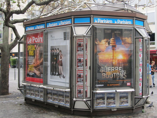 Jorge Andrade photographed this newsstand in Paris, France on September 9, 2011.