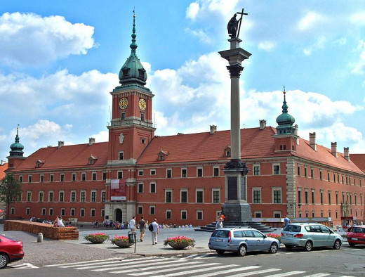 Royal Castle of Warsaw, Poland was photographed by Andrzej Barabasz on June 28, 2006.