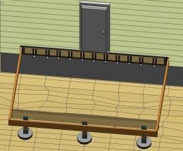 Fig 6.  Adding joist hangers
