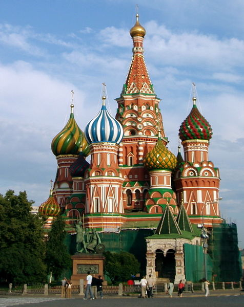 David Crawshaw photographed Saint Basil's Cathedral in Moscow, Russia on July 13, 2004.