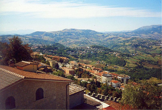This view from San Marino, San Marino inland was photographed by APPER.
