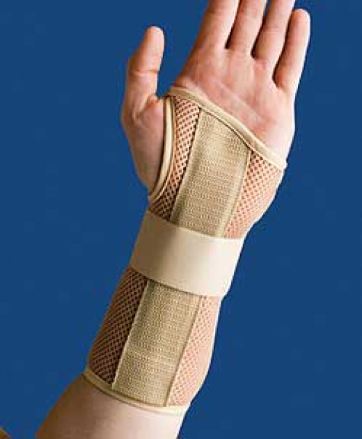 This type of brace has all the features you might want: firm support for the carpal tunnel, breathe-ability, freedom of movement for the thumb and fingers and ease in putting it on and taking it off.