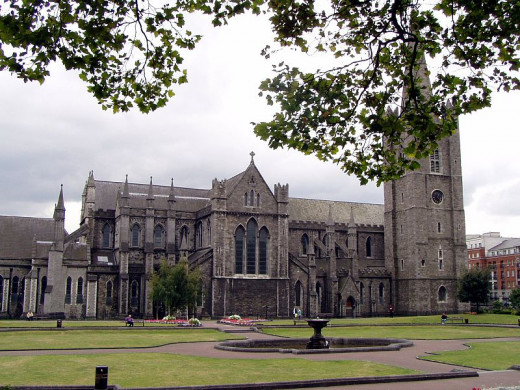 Thorsten Pohl photographed St. Patrick's Cathedral in Dublin, Republic of Ireland in August 2003.