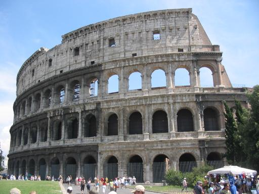 Andreas Ribbefjord photographed the Coliseum—called the Flavian amphitheater in Roman times after the Emperor Titus Flavius Vespasianus's middle name—in Rome, Italy on July 7, 2003.