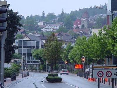 Carl Rogers photographed central Vaduz, Liechtenstein in 2003.