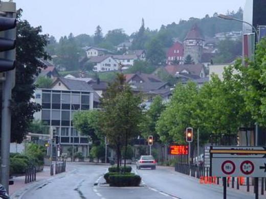 Carl Rogers photographed central Vaduz, Liechtenstein in 2003.