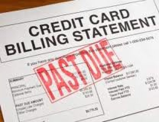 Do not let past due credit cards overwhelm you.