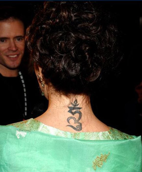 Allysa Milano Tattoo Pictures