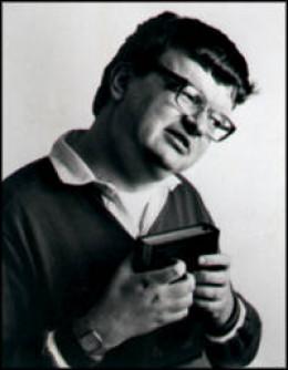 "Photo of Kim Peek whose story inspired the movie ""Rain Man"""