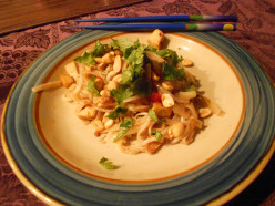 How to Make Vegetarian Pad Thai using Tofu.