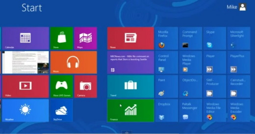 Windows 8 Metro Start up screen: Used with permission from Microsoft
