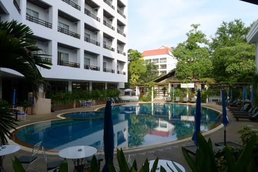 One of the 2 swimming pools at Areca.