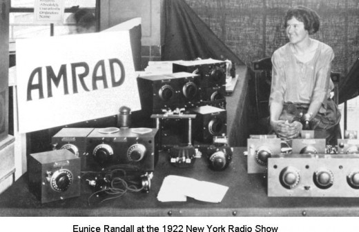 "Women started to ""Get in on the action"" early, when programs, shows music, and the early ""Celebrities"" were created on the early radio stations"