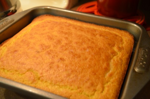 Meanwhile, bake cornbread.