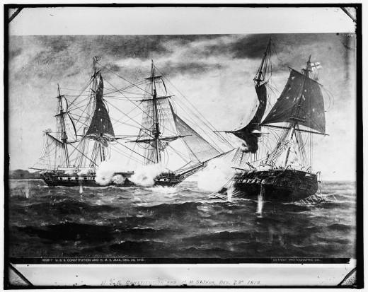 The British firing Scotland lead at the Americans during the War of 1812