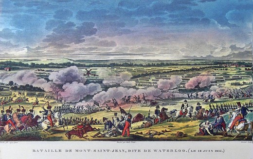 A portrait of the Battle of Mont St. Jean by Carle Vernet dating from the early 19th century.