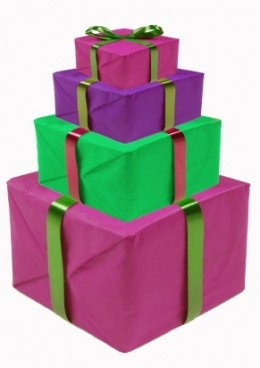Gifts come in every size, shape and colour.