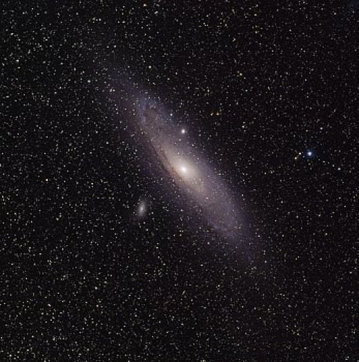 The spiral galaxy M31 known as Andromeda. Andromeda is the closest spiral galaxy  to the Milky Way.  It is the only other (besides the Milky Way) spiral galaxy that we can see with the naked eye.