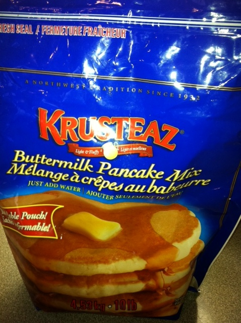 This is the complete pancake mix I use from Costco.