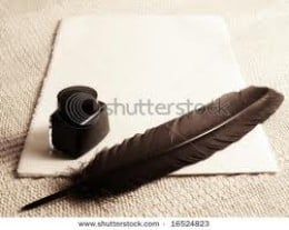 If only the quill would jump up and write.