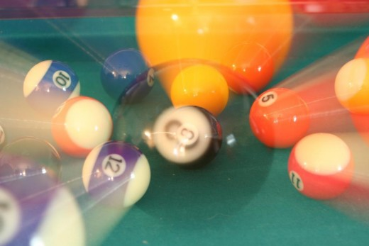 When billiard balls collide,their hardness results in an elastic collision.