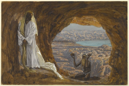 Jesus Tempted in the Wilderness, by James Tissot, Brooklyn Museum, New York.