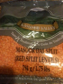 Red lentils are good but any lentils will work