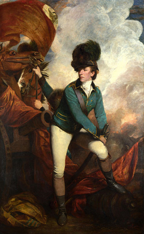 Lt. Col. Banastre Tarleton painted by Sir Joshua Reynolds in 1782