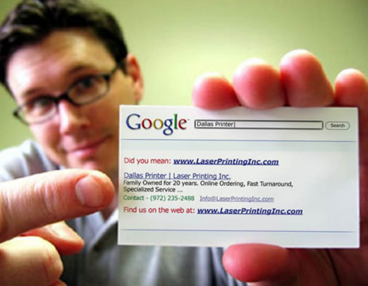 Creative Google Business Card