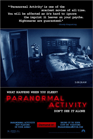 """Paranormal Activity"" poster"