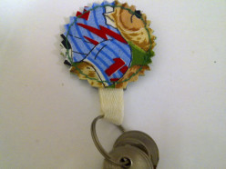 How to Sew Flower Key Chain Holder