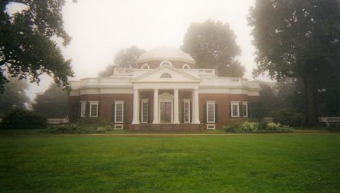 Monticello, Thomas Jefferson's mansion outside Charlottesville, Virginia.