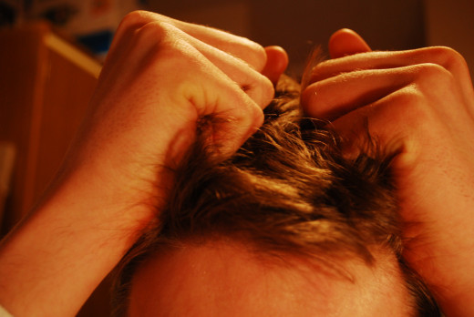 Stress can make you feel like pulling your hair out!
