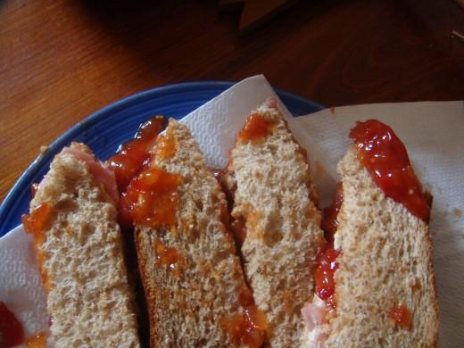 Halloween Finger Sandwiches