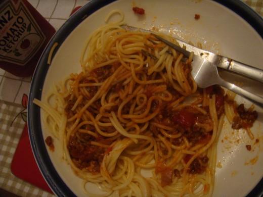 Scary Bloody spaghetti!