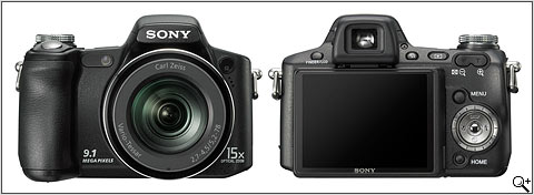 The Sony DSC-H50. Front and back view. Pretty cool...