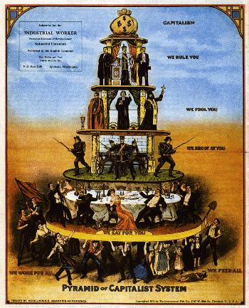 Though simplified, this is the basic structure of the capitalist-corporatist system that predominates the international scene today. There are similarities with the feudal order and it does not end here.