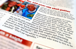 Ruth Frith making headlines at 100 years old.