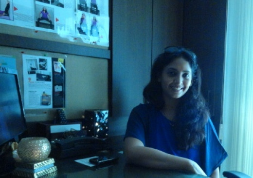 Payal in her studio