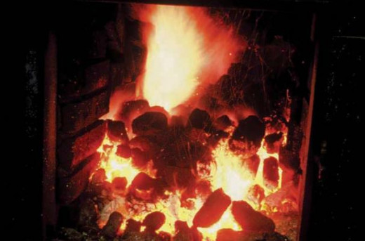 A peat fire dries the malted barley  and adds a smoky peaty flavour