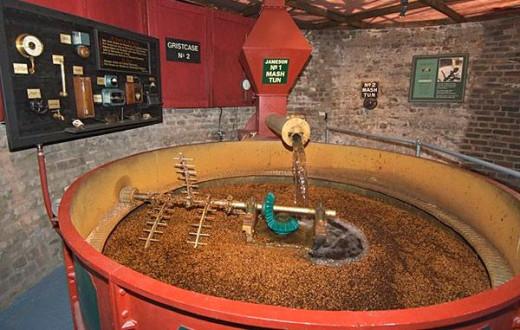 A mash-tun mashing malted barley
