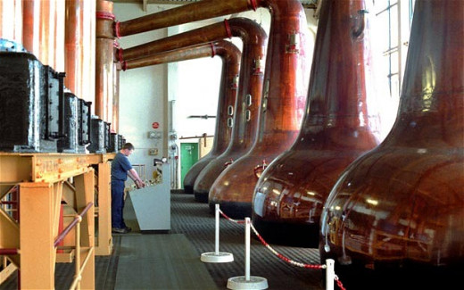 Copper stills absorb impurities from the spirit