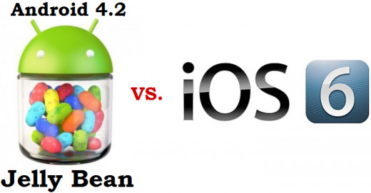 Android 4.2 Jelly Bean vs. iOS 6 - the new chapter in the battle for mobile