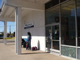 In October 2012, the Union Pacific travelling exhibit stopped at Houston's Amtrak Station.