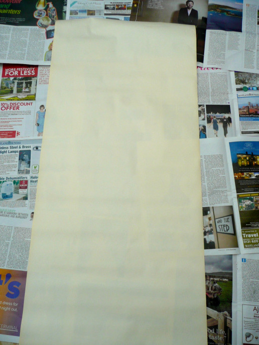 Do cover the working area with newspaper
