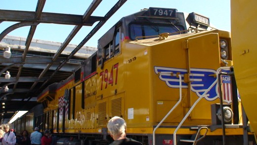 Union Pacific diesel locomotive.