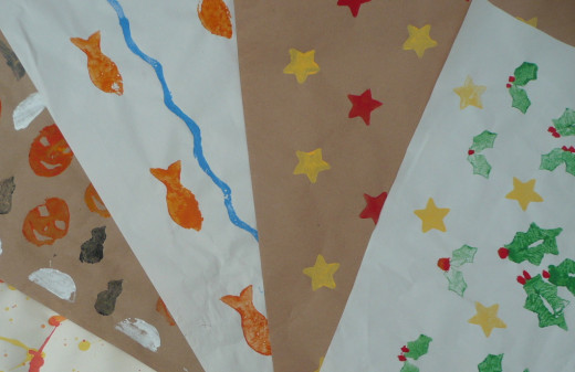 The finished printed wrapping papers