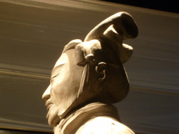 A high-ranking officer with a view of his headgear from the side